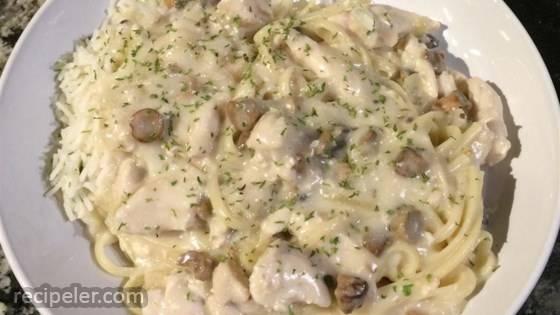 Chicken Mushroom Linguine