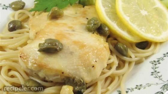 Chicken Piccata with Fettuccine