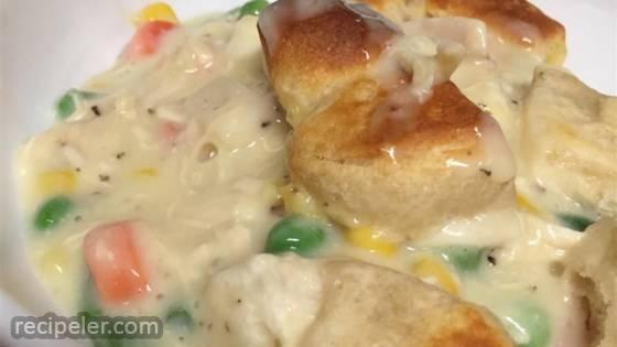 Chicken Pot Pie Bubble Bake