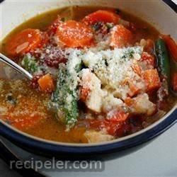 Chicken Soup Au Pistou