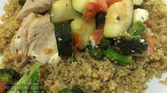 Chicken With Quinoa And Veggies