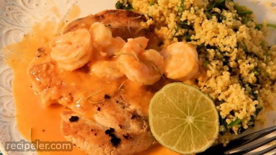 Chicken with Shrimp Sauce