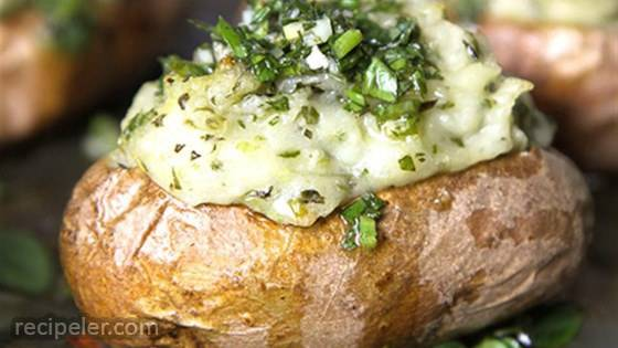 Chimichurri Twice-Baked Potatoes