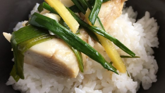 chinese poached black cod