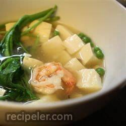 Chinese Shrimp and Tofu Soup