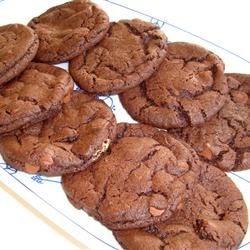 chocolate/peanut butter drop cookies