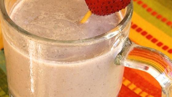 chocolate, strawberry, and banana smoothie