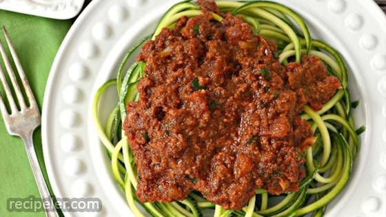 Chorizo Ragu With Spiralized Mexican Squash
