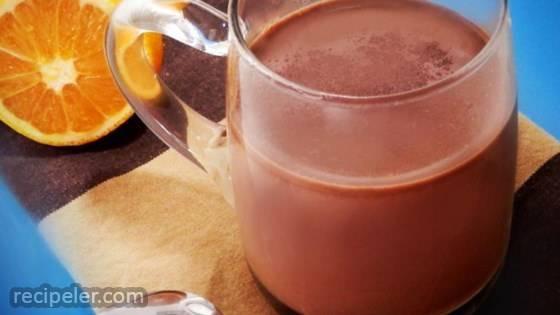 Christmas Orange Hot Chocolate