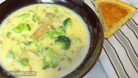Chunky Broccoli Cheese Soup
