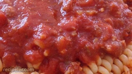 Chunky Red Sauce With Ground Talian Sausage