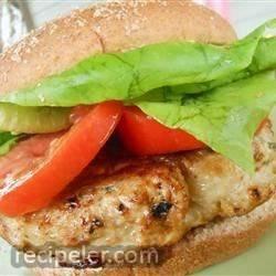 Cilantro Chicken Burgers with Avocado