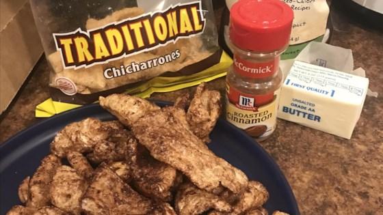 cinnamon and sugar pork rinds