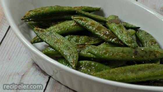 Cinnamon Sugar Snap Peas