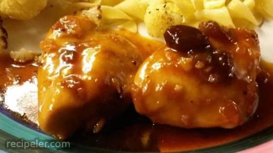 Citrus Garlic Cranberry Chicken