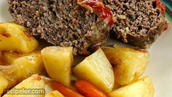 Clay Pot Meatloaf and Potatoes