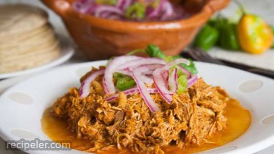 Cochinita Pibil (Mexican Pulled Pork in Annatto Sauce)