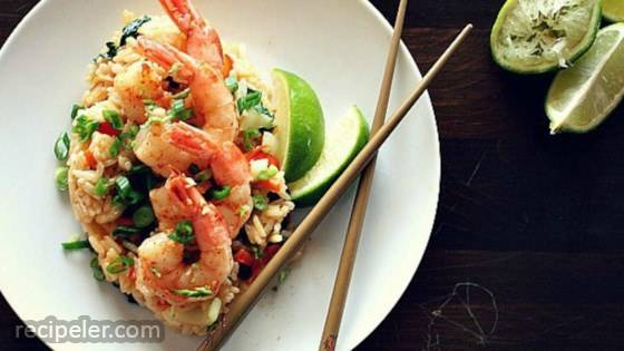 Coconut, Chile, And Lime Shrimp