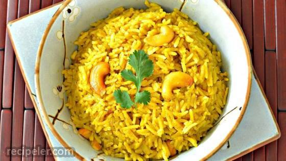 Coconut Curried Rice with Cashews