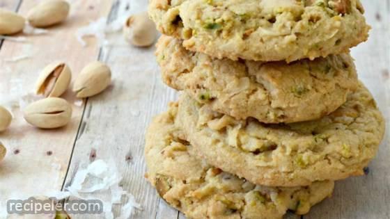 Coconut Pistachio Cookies
