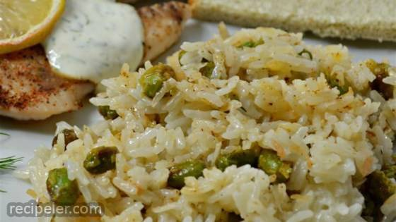 Coconut Rice with Edamame