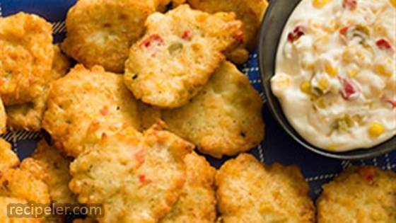Corn and Crab Fritters with Lemon Aioli