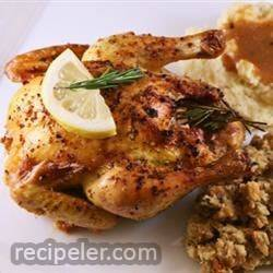 Cornish Game Hens with Garlic and Rosemary