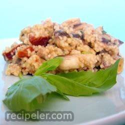 Couscous with Mushrooms and Sun-Dried Tomatoes