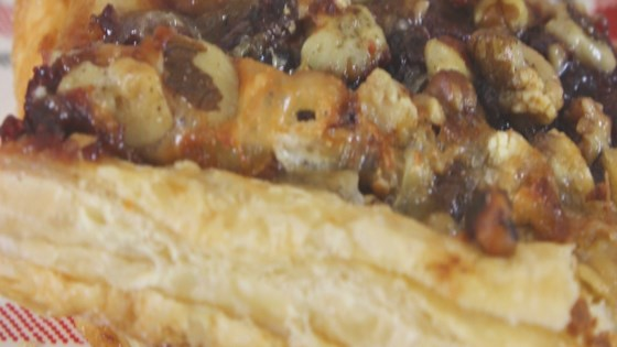 cranberry-brie puff pastry