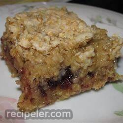 cranberry crunch squares