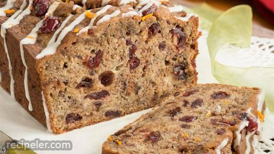 Cranberry-Orange Pumpkin-Spice Banana Bread
