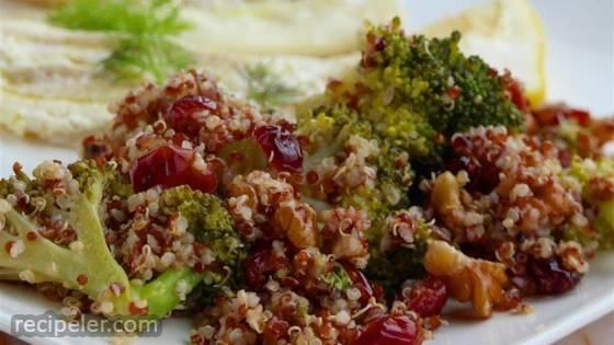 Cranberry Quinoa Salad with Broccoli