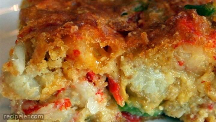 crawfish cornbread