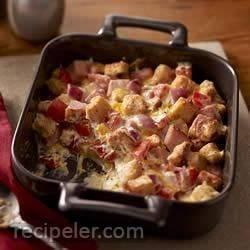 Creamy Ham and Cheese Casserole
