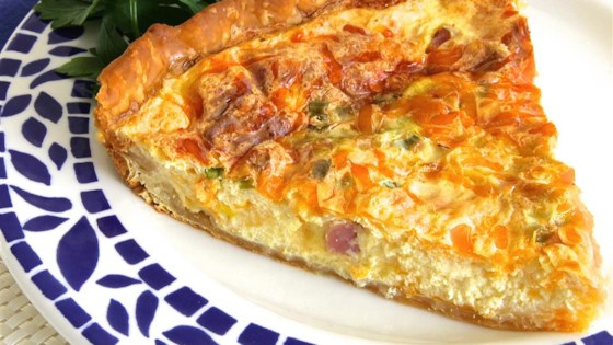 creamy ham and cheese quiche