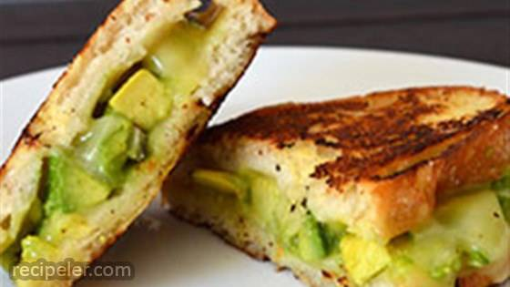 Creamy Jack Grilled Cheese with Fruit-Glazed Avocado