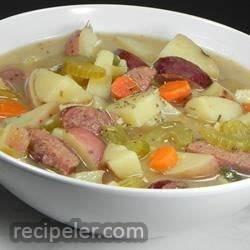 Creamy Kielbasa and Potato Soup