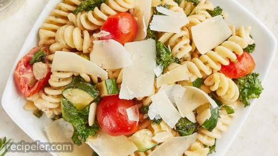 Creamy Summer Pasta Salad with BelGioioso Shaved Parmesan