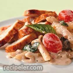 Creamy Tomato-Basil Pasta with Chicken