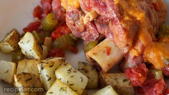 Creole Pork Shanks with Sweet Potato Gravy