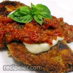 Crispy talian Chicken Topped with Mozzarella