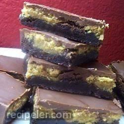 crunchy peanut butter swirl brownies