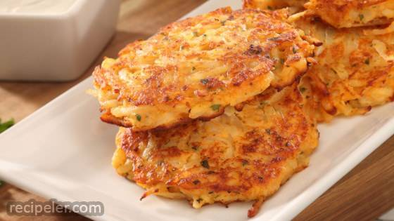 Crunchy Sweet Potato Pancakes
