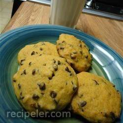 Crystal's Chocolate Chip Pumpkin Cookies