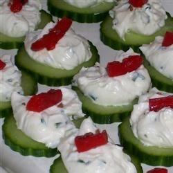 cucumber crab snacks