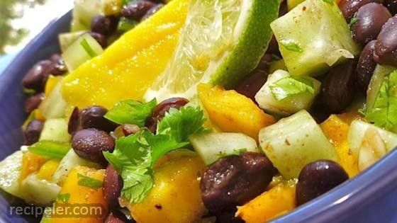 Cucumber, Mango, and Black Bean Salad