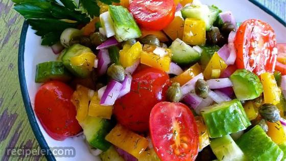 Cucumber Salad with Dill Vinaigrette