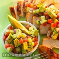 cumin rubbed chicken with avocado salsa