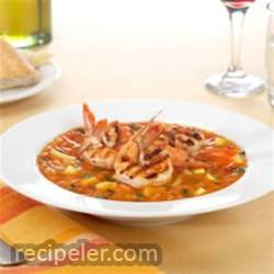 cy Fruit Gazpacho with Spicy Grilled Shrimp