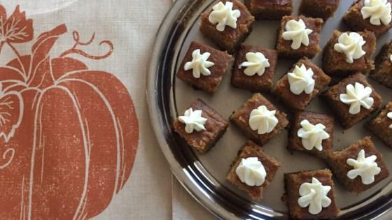 dairy-free, gluten-free pumpkin bars